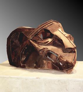 """Foto de la escultura """"Mascarón de la Teodicea"""""""